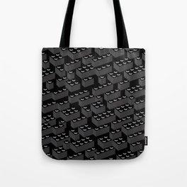 Building Blocks Pattern – Noir Tote Bag