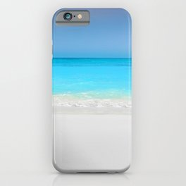 Summer Photography - A Beach With Crystal Clear Water iPhone Case