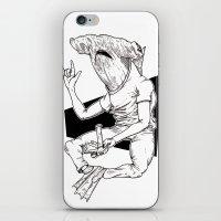 shark iPhone & iPod Skins featuring Shark by Hopler Art