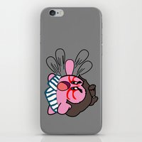 kirby iPhone & iPod Skins featuring E Kirby by cudatron