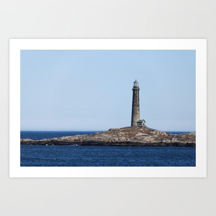 North Lighthouse Tower Thacher Island Art Print