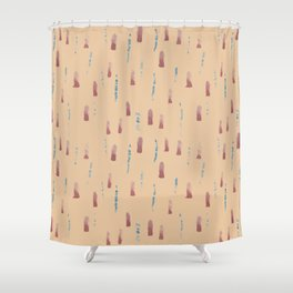 dash and dot Shower Curtain