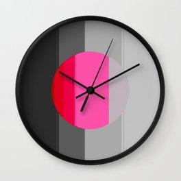 Modern Circle Pink Gray 2 Wall Clock