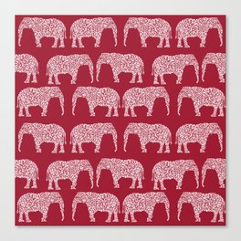 Alabama bama crimson tide elephant state college university pattern footabll Canvas Print