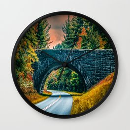 Stone Bridge Wall Clock