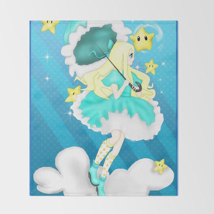 In the Sky: Rosalina Throw Blanket