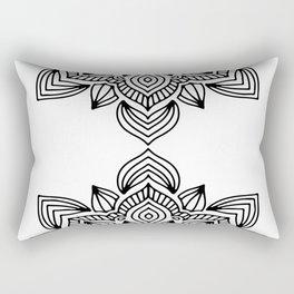 minimal black white mandala Rectangular Pillow