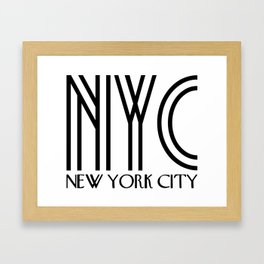 NYC - New York City Framed Art Print