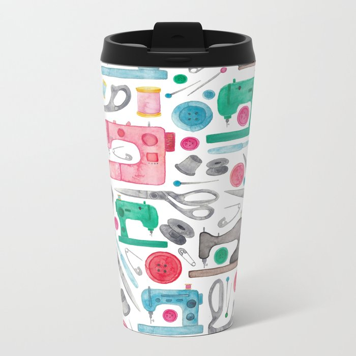 Sewing Pattern. Metal Travel Mug