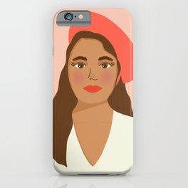 Lorelei in Tomato Red | Modern Portrait iPhone Case