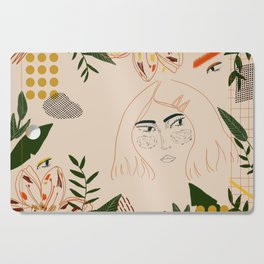 Jungle girl Cutting Board