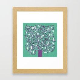 Mesh - tree Framed Art Print