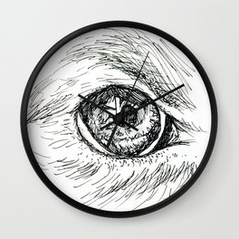 Dog Eye Wall Clock