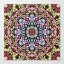 Summer leaves kaleidoscope Olbrich Botanical Gardens Canvas Print