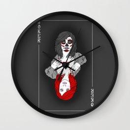 Joker Girl Wall Clock