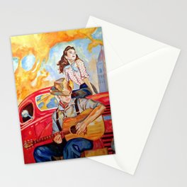 Vintage, music, retro. Stationery Cards