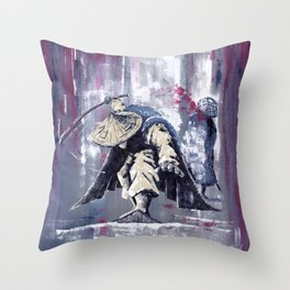 'The Winter Ronin Strikes' Throw Pillow