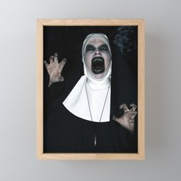 Valak Screaming Framed Mini Art Print