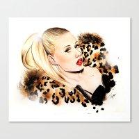iggy azalea Canvas Prints featuring Iggy Azalea NYLON  by Tiko Meow