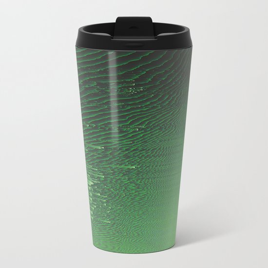 Field of Green Metal Travel Mug