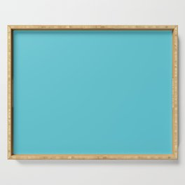 Turquoise Blue Radiance | Solid Colour Serving Tray