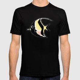 8-Bit Moorish Idol Pixel Art Tropical Fish T-shirt