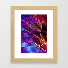Experiments in Light Abstraction 6 Framed Art Print