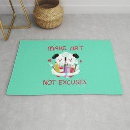 Make Art Not Excuses Rug