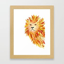 Fire lion Framed Art Print