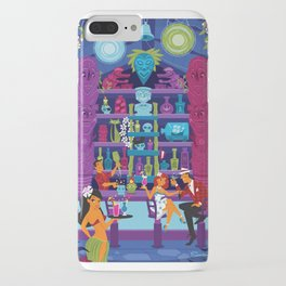 Enchanted Tiki night by Art of Scooter Mid Century Modern inspired art and merchandise  iPhone Case
