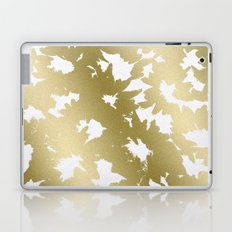 Gold Flowers Laptop & iPad Skin