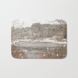 Madawaska in Winter Bath Mat