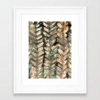 herringbone Framed Art Prints featuring Herringbone by Janice MacDougall
