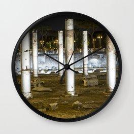 Rome Italy, Roman Forum Columns Wall Clock