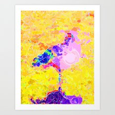 Magical Flamingo  Art Print