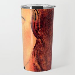"Amedeo Modigliani ""Portrait of a young woman (Profile of Jeanne Hebuterne)"" Travel Mug"