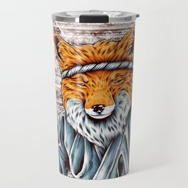 Fox making shushi Travel Mug