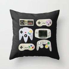 Gamer Nostalgia Throw Pillow