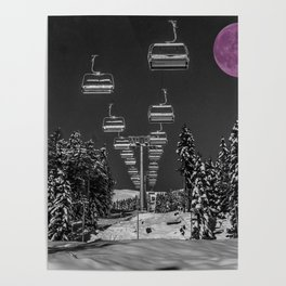 Chairlift to the Fuchsia Moon Poster