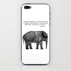 Buddha Quote with Henna Elephant iPhone & iPod Skin