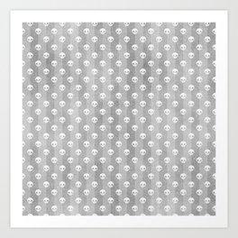 Grey & White Skulls Art Print