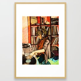*vinyl* Framed Art Print