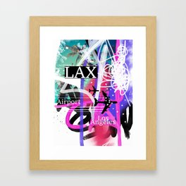 LAX Los Angeles airport code Framed Art Print
