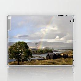 The Dalles Oregon - Rainbow Over The Dalles Dam Laptop & iPad Skin