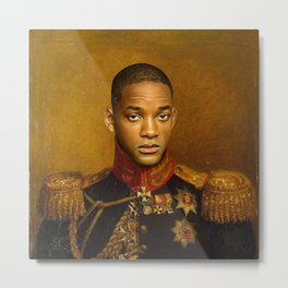 Will Smith - replaceface Metal Print