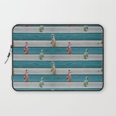 Meercat Beach Stripes Laptop Sleeve