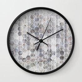 Hexagons - Concrete Wall Clock