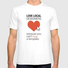 Love Local Designers White SMALL Mens Fitted Tee