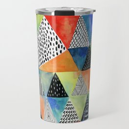 Doodled Geometry Travel Mug