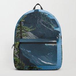 Blue Crater Lake Oregon in Summer Backpack